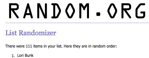 Blog Winner - 11-2010